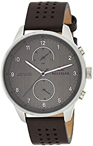 Tommy Hilfiger Men'S Grey Dial Brown Leather Watch - 179