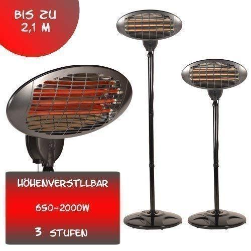2000 Watt Infrarot Heizstrahler Standheizer Terrassenheizung Terassen Strahler