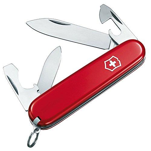 Victorinox Taschenmesser Recruit (10 Funktionen, Kleine Klinge, Dosenöffner, Zahnstocher) rot -