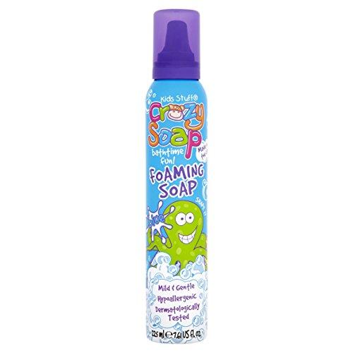 Kids Stuff Crazy Soap Pink Green Blue White Foaming Soap 225ml (Blue)