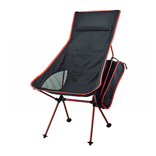 Yangtuo Aviation Tube président Camping High Back Folding Quad Avec Carry Bag (Rouge)