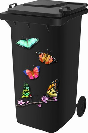 *Wheelie Bin Stickers – Butterfly by Classic Sign & Design*