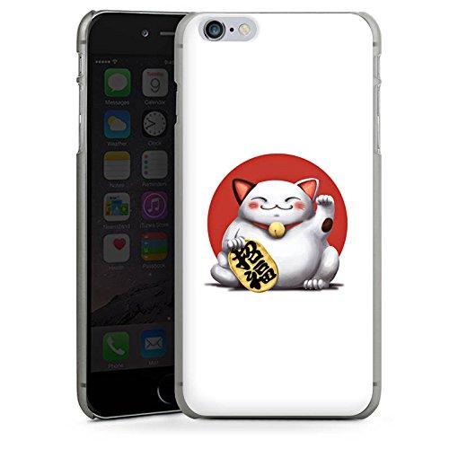 Apple iPhone X Silikon Hülle Case Schutzhülle Kawaii Katze Japan Hard Case anthrazit-klar