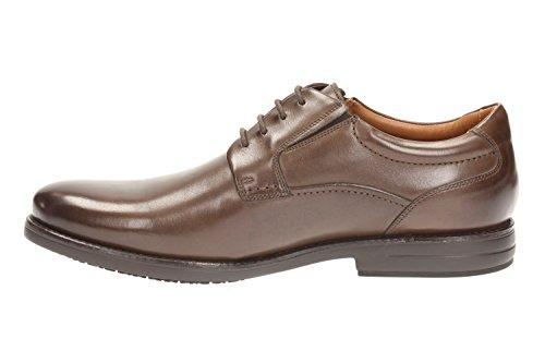 Clarks Shoes Hopton Walk Braun (Ebony Leather)