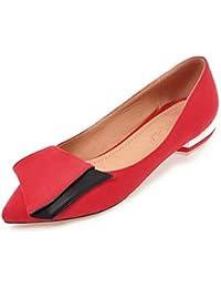 SHOWHOW Damen Flach Spitz Zehe Ballerinas Slip-On Low Top Slipper Pink 43 EU OKVmamnLP