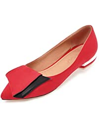 SHOWHOW Damen Flach Spitz Zehe Ballerinas Slip-On Low Top Slipper Pink 43 EU