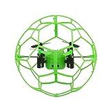 GJKK Fliegen Ball Helic Max Sky Walker 1340 2,4 GHz 4CH Fly Ball RC Quadcopter 3D Umlenkrolle RC Drone Mini Drone Modellbau Flieger Gyro Ferngesteuerte Flugzeuge Spielzeug Tragbare Drohne Draussen Drohne (Grün)
