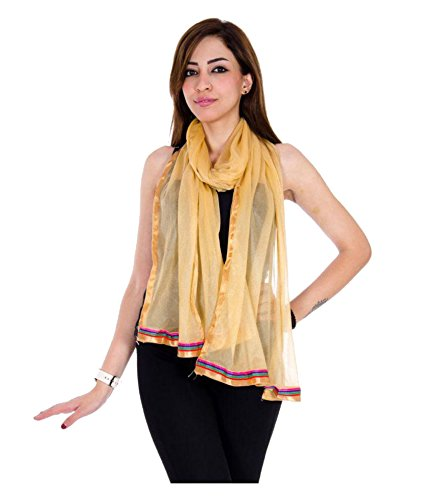 Dupatta in Golden from Zoya Collection _ZC06_Golden_Womens Net Duppata_Standard Size | Dupatta...