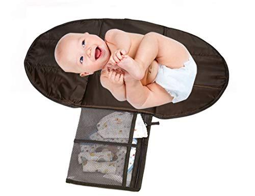 chenyu Tragbar Wickelunterlage Wickelunterlage Kopfpolster, Taschen, Wasserdicht, Zusammenklappbar Infant Urinal Pad Baby Wickelunterlage Kit