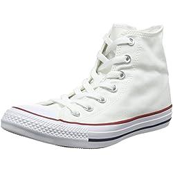 Converse All Star Hi Canvas, Sneaker, Unisex - Adulto, Bianco (Optical White), 40 EU