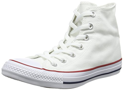 Converse Converse Sneakers Chuck Taylor All Star M7650, Unisex-Erwachsene Hohe Sneakers, Weiß (Optical White), 43 EU (9.5 Erwachsene UK)