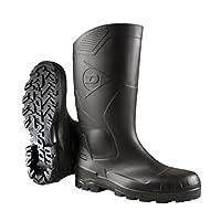 Dunlop Devon Unisex Black Safety Wellington Boots (43 EUR) (Black)