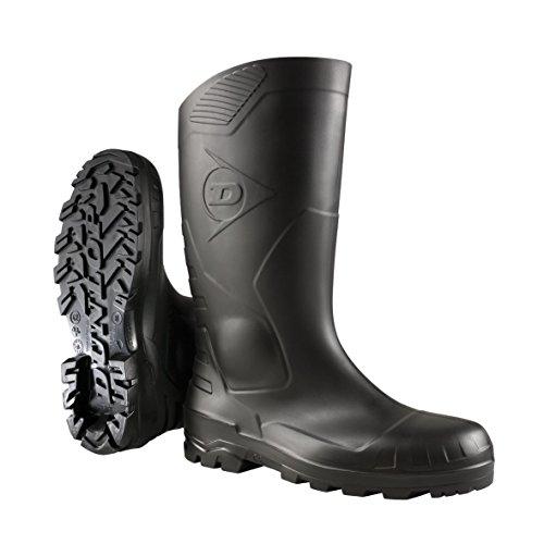 Dunlop Sicherheitsstiefel S5 H142011 mit Stahlkappe und Stahlsohle 47, Unisex-Erwachsene Langschaft Gummistiefel