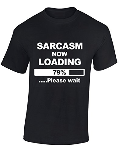 Designs by The Crown Sarcasm Now Loading Funny Cool for Men & Teenagers T-Shirts Tops