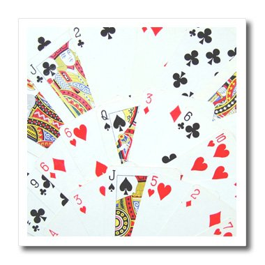 3dRose ht_112895_2 Playing Cards Photography Iron on Heat Transfer for White Material, 6 by 6-Inch