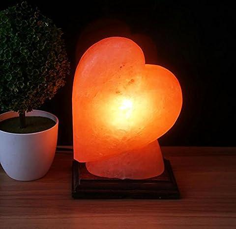 Crystal Heart-shaped Salt Lamp, Himalayan Salt Lamp  Dimmable