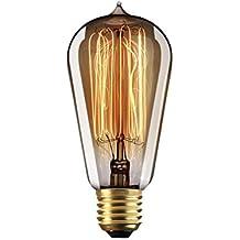 Frideko - Lámpara de techo de cristal con diseño de bola industrial vintage para casa,