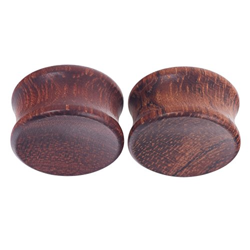 Welch Plug (D&Min Jewelry Bubinga Holz Flesh Tunnel Plug Piercing Schmuck 20mm)