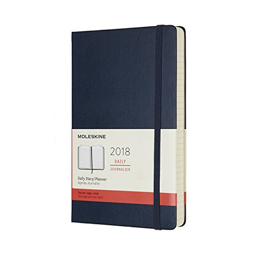 Book's Cover of Agenda 2018 journalier grand format rigide bleu saphir