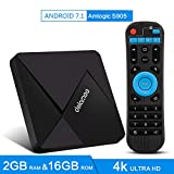 DOLAMEE D5 Android TV Box, 2GB RAM 8GB ROM 4K HD Smart Media