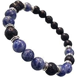 Young & Forever Divine Spiritual Lava Sodalite Healing Energy Reiki Bracelet Gemstone Bracelet B608