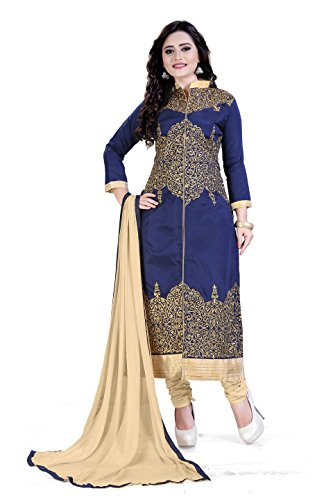 Siddeshwary Fab Women's Taffeta Silk Salwar Suit Dress Material