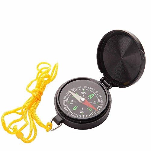 Kronus Unisex Scompass Set di 24Bussola Tascabile, Nero, Taglia Unica