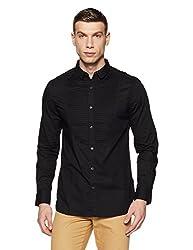 French Connection Mens Slim Fit Casual Shirt (52HKH_Blck_M)