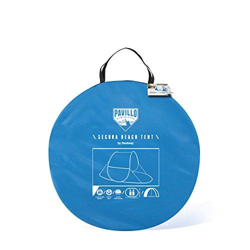 Bestway Strandmuschel Pop-Up Secura Beach Tent Parasol para Playa Sistema, Unisex, Gris, 192 x 120 x 85 cm
