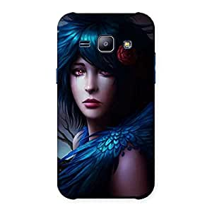 Crossed Angel Multicolor Back Case Cover for Galaxy J1