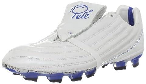 Pelé Sports Men's 1962 FG MS Soccer Shoe,Pearlized White/Varsity Royal/Black,10.5 M US