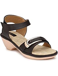 RIMEZS Slip On Party-Wear Heeled Sandals for Women & Girls