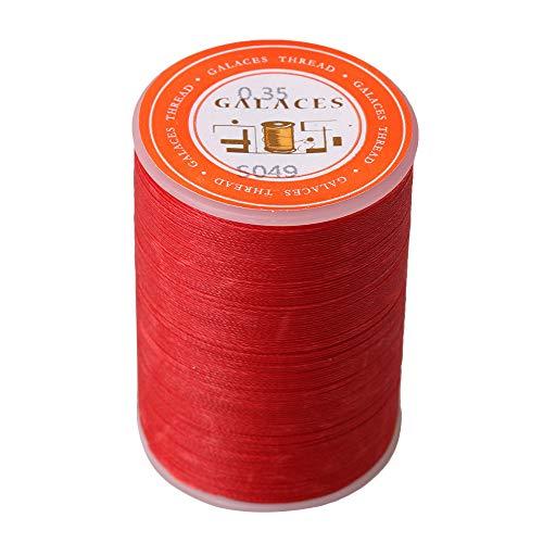 BQLZR Câble de couture en polyester ciré 300 m de long 0,35 mm de diamètre pour travaux manuels en cuir, Red, 5x3.4x3.4cm/1.96x1.33x1.33inch(LxWxH)