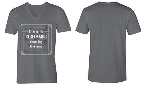 ... Erlaube Dir Regelmaessig Einen Tag Nichtstun ☆ V-Neck T-Shirt Männer- Herren