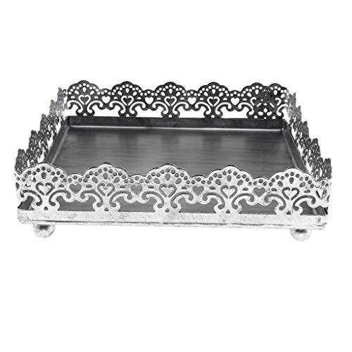 Descripción: - Torta cuadrada torta de metal herramientas de la torta de la boda de alta calidad decoración de la mesa para hornear Cocina Comedor y bar - Condición: 100% nuevo - Ahueca el diseño lateral de encaje con excelente calidad ...