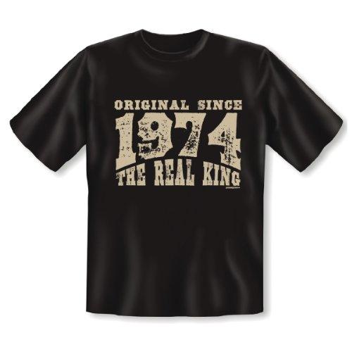 Geburtstag T-Shirt: Motiv: The Real King 1994 40 Jahre lustiges witziges Funshirt Shirt Geschenk Herren Birthday Schwarz
