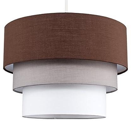 MiniSun – Paralume bellissimo, moderno e rotondo con 3 livelli di colori vari – per lampada a sospensione