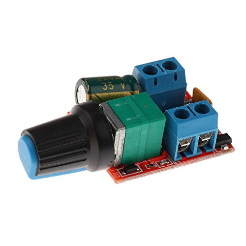 MagiDeal Mini 5A Motor PWM Drehzahlregler Dc 3v-35v Drehzahlregler LED Dimmer (Miniatur-dc-motor)