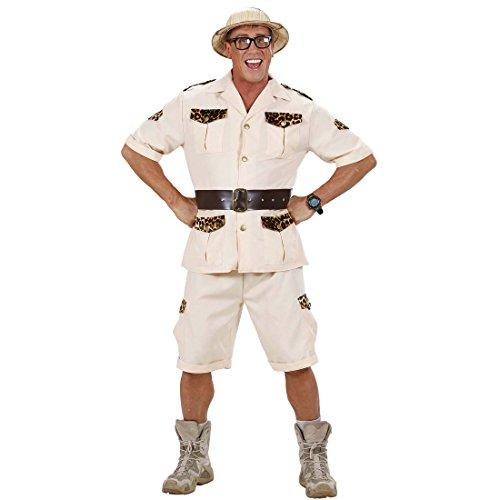 Safari Kostüm Dschungel Herrenkostüm S 48 Forscher Dschungelkostüm Wildnis Safarikostüm Pfadfinder Afrika Männerkostüm Urwald Entdecker Faschingskostüm Karnevalskostüme (Entdecker Kostüm)