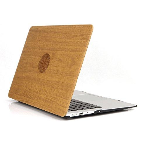 Ein Micron Macbook Pro 13-Zoll-Gehäuse, PU-Leder beschichtete Holzhülle, gummierte Unterseite Ultra Slim-Gehäuse für Macbook Pro 13,3 '' (A1278), Holzmaserung 2 (Pro 13-zoll-fall Macbook 2010)