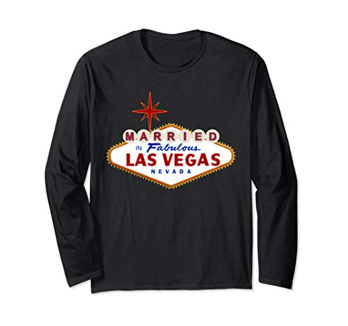 Married in Las Vegas Nevada Classic Sign Langarmshirt -