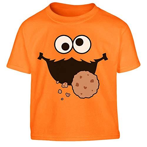 Süßes Karneval & Fasching Keksmonster Krümel Kostüm Kleinkind Kinder T-Shirt 130/140 (8-10J) Orange