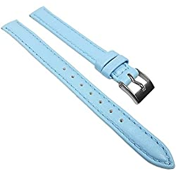Miami Replacement Band Watch Band kalf nappa Strap light blue 22558S, width:10mm