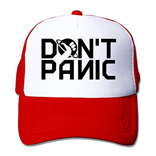 YSC-Dier Custom Adult Mesh Don't Panic Logo Basketball Caps Black Red
