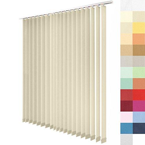 SUNWORLD Lamellenvorhang nach Maß, 27 Farben, Maßanfertigung, alle Größen Lamellen, Schiebevorhang, ohne Deckenschiene, Vertikaljalousie (Beige, Höhe: 250cm x Breite: 300cm)