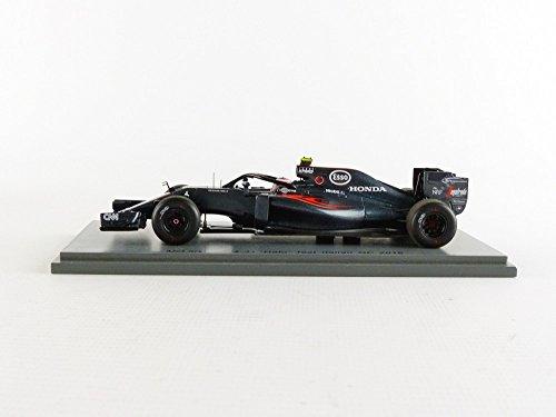 Spark-S5022-McLaren MP4-31-Halo Test GP Italien 2016-Maßstab 1/43-Schwarz/Rot