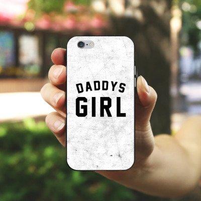 Apple iPhone X Silikon Hülle Case Schutzhülle Papa Mädchen Sprüche Silikon Case schwarz / weiß