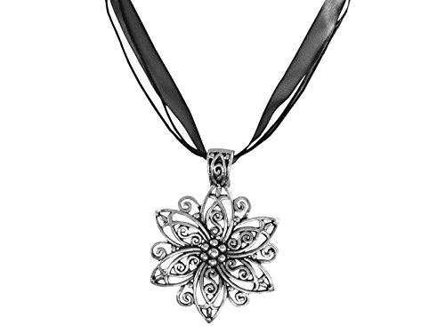 Ladinelle Damen Schmuck Halskette Kette Trachtenschmuck Wiesn Oktoberfest Dirndl Blüten, Blumen Anhänger