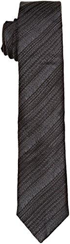 Calvin Klein Herren Krawatte Naples, Grigio (Iron), Einheitsgröße