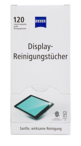 ZEISS Display-Reinigungstücher (120 Stk.) zur schonenden & gründlichen Reinigung Ihres Tablets